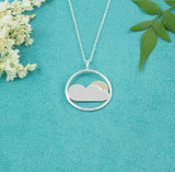 Cloud and Glimmer of Sun Necklace [UK Handmade Sterling Silver] - Milly & Co.