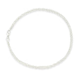 Sterling Silver Double Strand Twisted Chain Bracelet - Milly & Co.