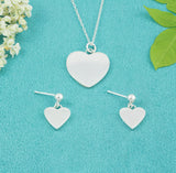 Sterling Silver Heart Studs - Milly & Co.