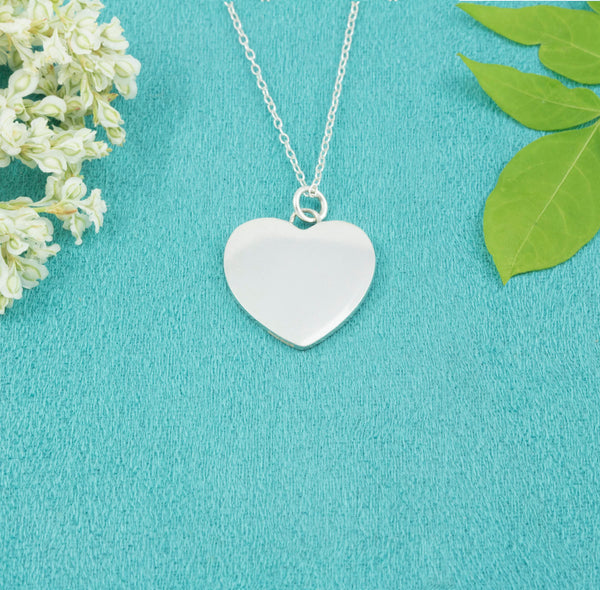 Sterling Silver Heart Necklace - Milly & Co.