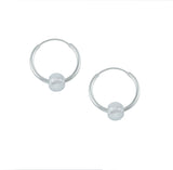 Clear Shimmer Glass Bead Hoop Earrings - Milly & Co.