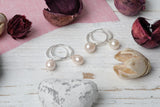 Pale Pink Pearl Hoop Earrings - Milly & Co.