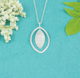 Sterling Silver Oval Necklace - Milly & Co.