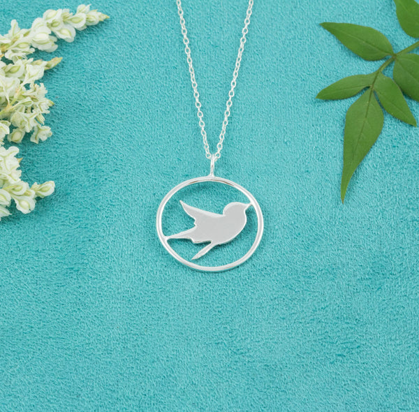 Sterling Silver Swallow Necklace - Milly & Co.
