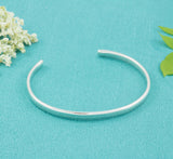 Sterling Silver Slim Bangle - Milly & Co.