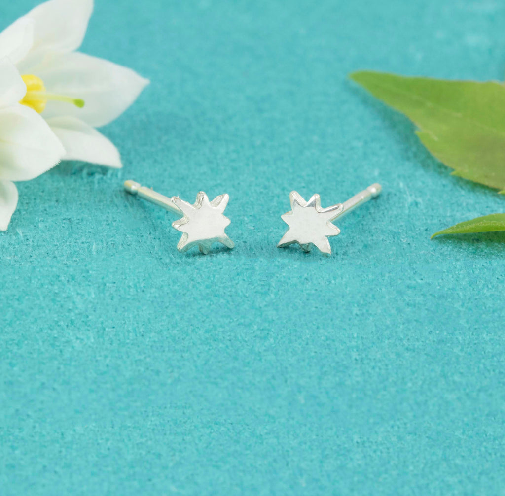 Tiny Star Studs Handmade from the UK - Milly & Co.