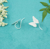 Sterling Silver Butterfly Drop Earrings - Milly & Co.