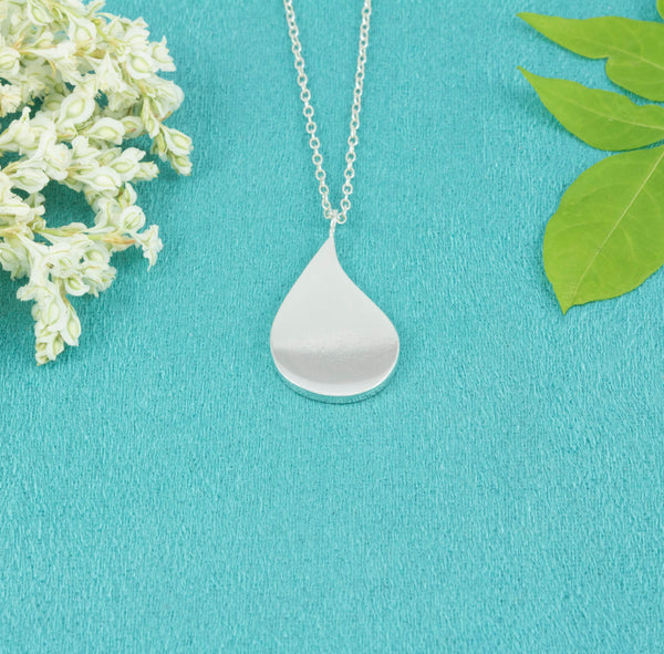 Sterling Silver Droplet Necklace - Milly & Co.