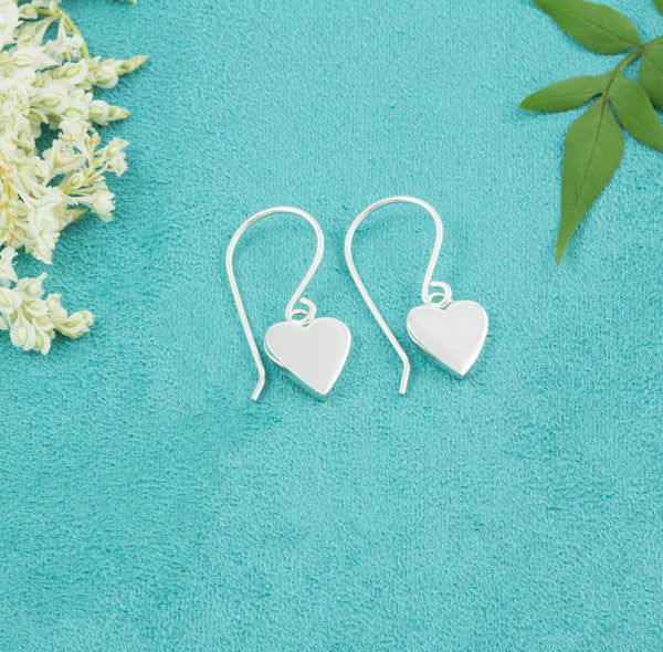 Heart Earrings (hook) - Milly & Co.