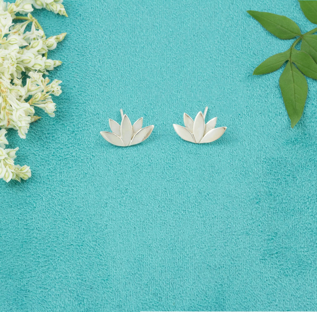 Lotus Flower Studs Handmade from the UK - Milly & Co.