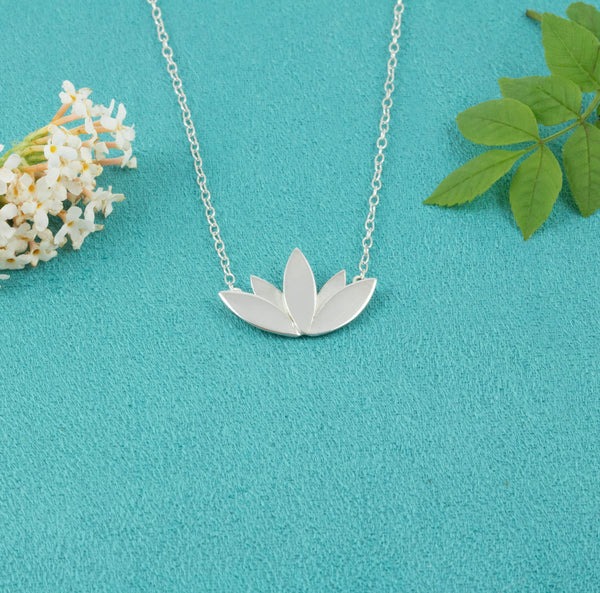 Lotus Flower Necklace (medium) - Milly & Co.
