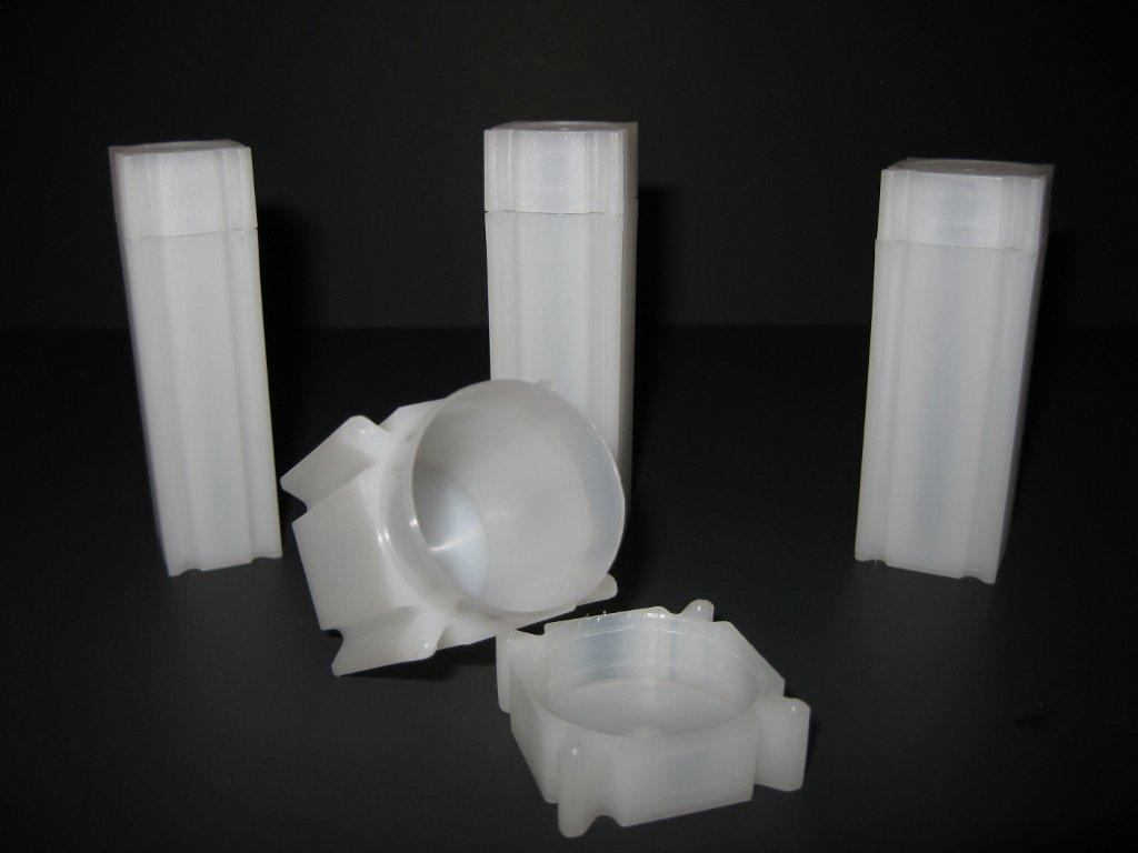 Lot of 5 Square Nickel Coin Storage Tubes for Nickels by CoinSafe