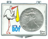Marcus Snap Lock Silver Eagle: It's A Boy