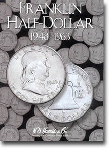 Harris Folder: Franklin Half Dollars 1948-1963