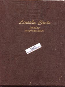 Dansco Album #8100 for Lincoln Cents w/proofs