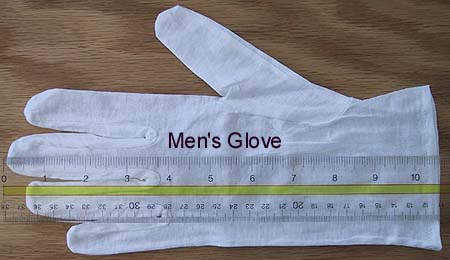 White Cotton Gloves -1 Pair Men's