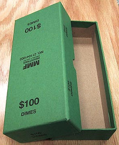 Green Box for bank rolled Dimes
