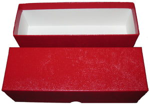 Red Single Row Box for Coin Slabs/Crowns and 2.5x2.5s