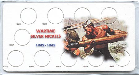 WWII Wartime Nickel Holder: 1942-1945