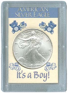 HE Harris Frosty Case for Silver Eagles: It's A Boy!