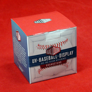 BCW Baseball Display Case with Pedestal & UV Protection Or Adhesive Mirror