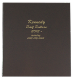 Dansco Album #8167 for Kennedy Half Dollars: 2012-Date w/proofs