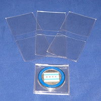 """2/"""" x 2/"""" Frame A Coin Non Plasticized Double Pocket Coin Flips w// Inserts 300"""