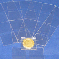 """300 2/"""" x 2/"""" Frame A Coin #28 Double Pocket Vinyl Coin Flips with Paper Inserts"""