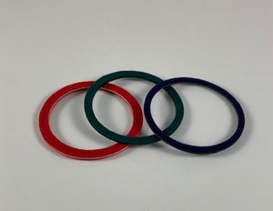 "38mm Air-Tite ""I / I Loop""  Colored Velour Rings - Choice of 10 count or 50 count"