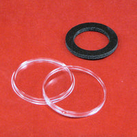 5 AirTite BLACK Ring Capsules Small Coins 13mm For $1 Gold Type 1 Clear Storage