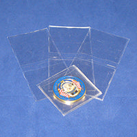 "Safe-T Non Plasticized Coin Flips 2½"" x  2½"""