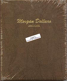 Dansco Album #7179 for Morgan Silver Dollars: 1891-1921