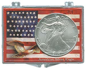 Marcus Snap Lock Silver Eagle: American Flag