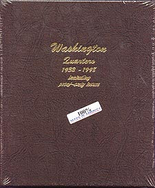 Dansco Album #8140 for Washington Quarters: 1932-1998 w/proofs