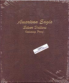 Dansco Album #8181 for American Silver Eagles: 1986-2006 w/proofs