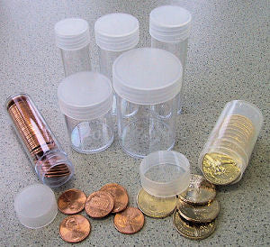 Marcus Round Coin Tubes for Quarters