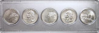 Marcus Mint and Proof Set Case: 5 Quarters
