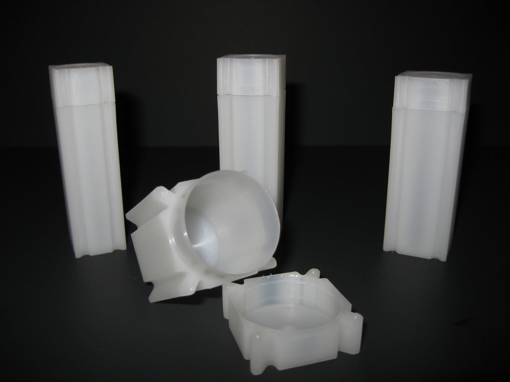 Coin Safe Square Tubes for Half Dollars