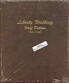 Dansco Album #7161 for Walking Liberty Half Dollars: 1941-1947