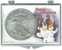 Marcus Snap Lock Silver Eagle: Merry Christmas