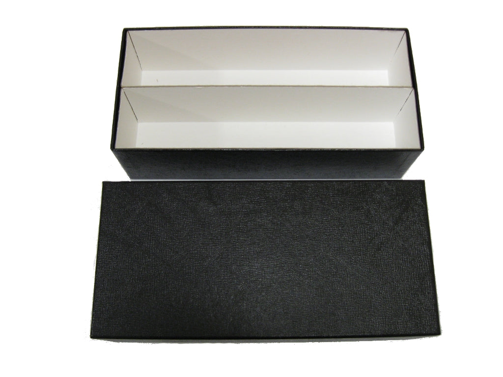 Black Double Row Slab Box
