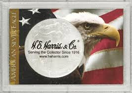 HE Harris Frosty Case for Silver Eagles: Flag/Eagle