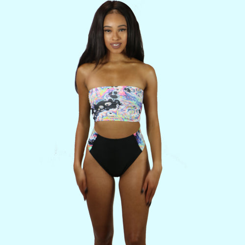 Tube Top & High Waist Booty Shorts - Glow in the dark - Prfcto Lifestyle