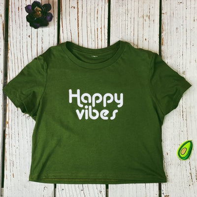 Happy Vibes Crop Top - Prfcto Lifestyle