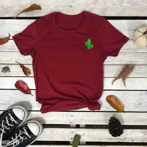 Cactus Embroidered Women's Tshirt - Prfcto Lifestyle