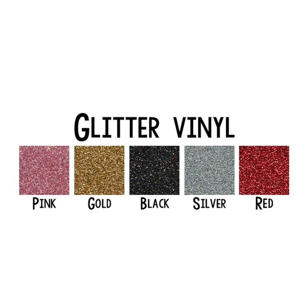 DSY Lifestyle glitter vinyl colors : pink, gold, black, silver, red