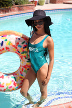 Load image into Gallery viewer, BRIDE One piece Bachelorette Party Turquoise Swimsuit - Prfcto Lifestyle