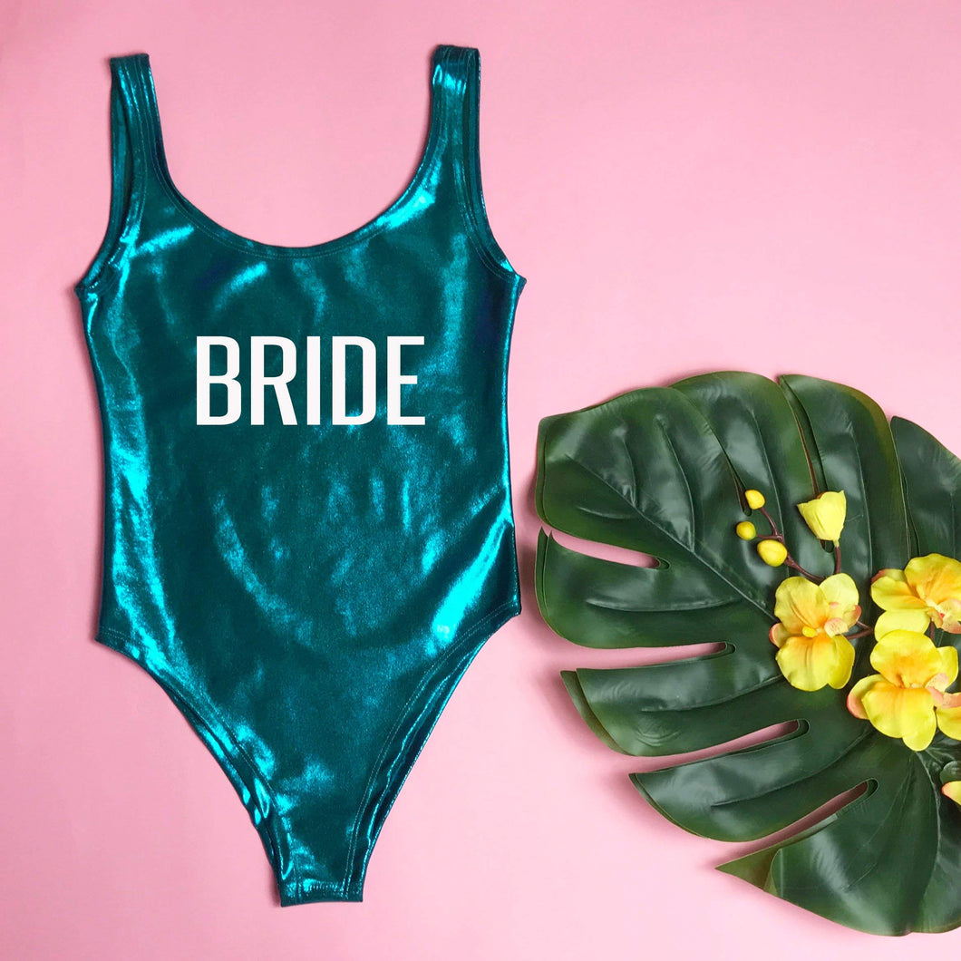 BRIDE One piece Bachelorette Party Turquoise Swimsuit - Prfcto Lifestyle