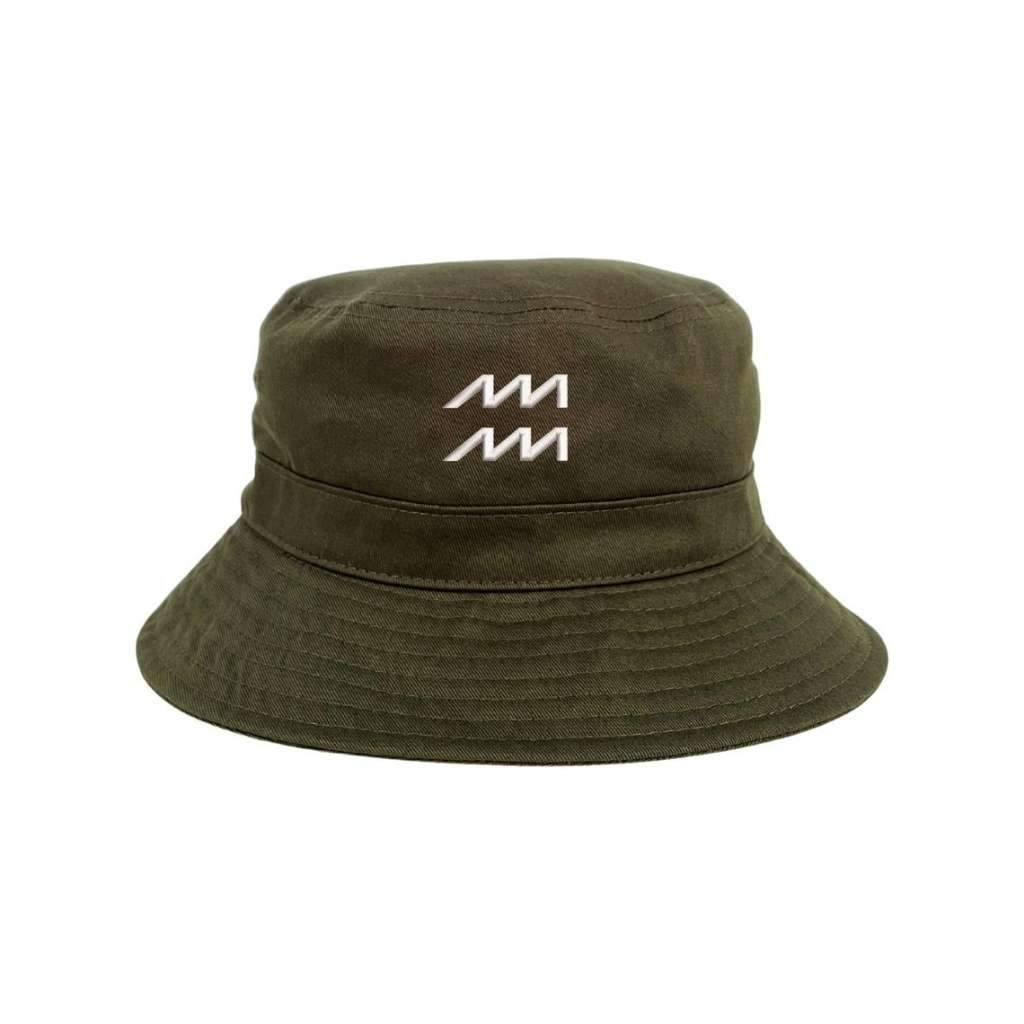 Female wearing  embroidered aries black bucket hat male wearing a embroidered virgo black bucket hat DSY Lifestyle