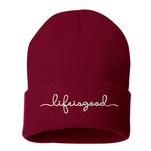 Life is good Cuffed Beanie - Prfcto Lifestyle